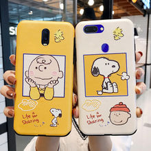 Cartoon PEANUTS dog case for huawei p30 P30pro p20 p20pro mate20pro nova 4 3i Silk pattern case for iphone 11 pro X XS max case(China)