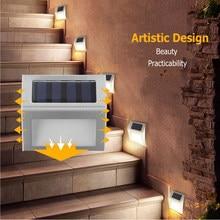 Mini LED Solar Lamp Path Stair Outdoor Waterproof Wall Light Garden Landscape Step Stair Deck Lights Balcony Fence Solar Light