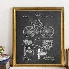 Cuadro con imágenes Retro de bicicleta Vintage, arte de ciclismo, Arte Artístico para bicicleta, lienzo, póster de arte para pared, decoración para el hogar sin marco