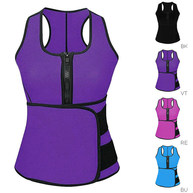 Unisex Men Women Lady Neoprene Corset Tummy Waist Trainer Vest Tank Workout Slimming Shapewear Sweat Belly Belt Body Shaper 1