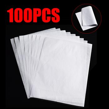 100 sztuk Translucent Tracing Paper kaligrafia Craft pisanie kopiowanie arkusz do rysowania bibułka tanie i dobre opinie plant fiber
