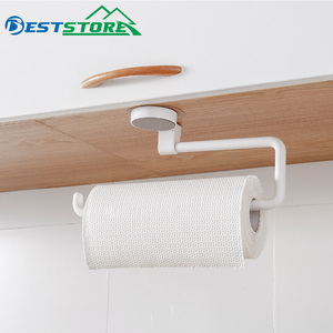 Image 1 - Kitchen Paper Holder Sticke Rack Roll Holder for Bathroom Towel Rack Estanterias Pared Decoracion Tissue Shelf Organizer