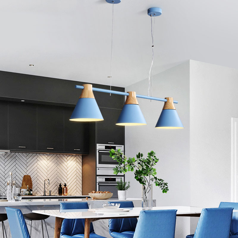 Personality Creative Nordic Three-headed Straight Restaurant Pendant Lights Living Room Bar Cafe Decoration Lamps WF5091515