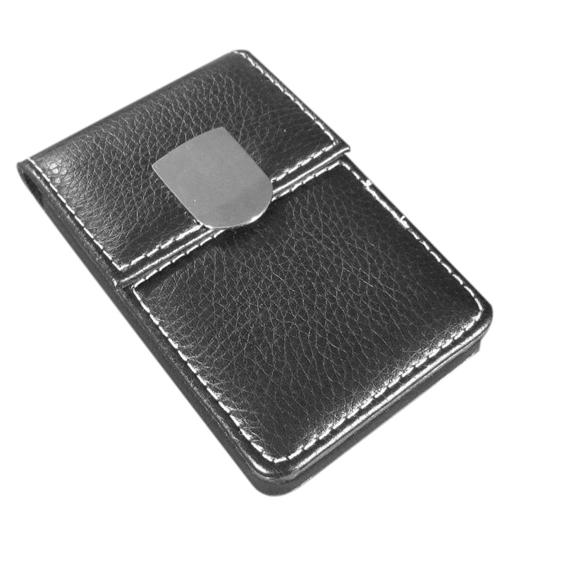 Business Card Credit Card Holder Card Case with Magnetic Buckle - Black
