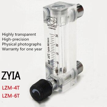 LZM-6T Panel akrylowy typ rotametr przepływomierz powietrza z zaworem sterującym Push/2-20L/min do 10-100L/min/darmowa wysyłka