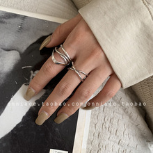 Cross-wrap X-shaped Ring Female Index Finger Silver Fashion Simple Multi-layer Trend fuzzy multi objective multi index transportation problem