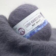 Высококачественная кашемировая длинная плюшевая пряжа с шерстью норки, мериносовая шерсть, пряжа для плетения свитера, шапки, шарфа, не скатывающаяся пряжа для ручного вязания