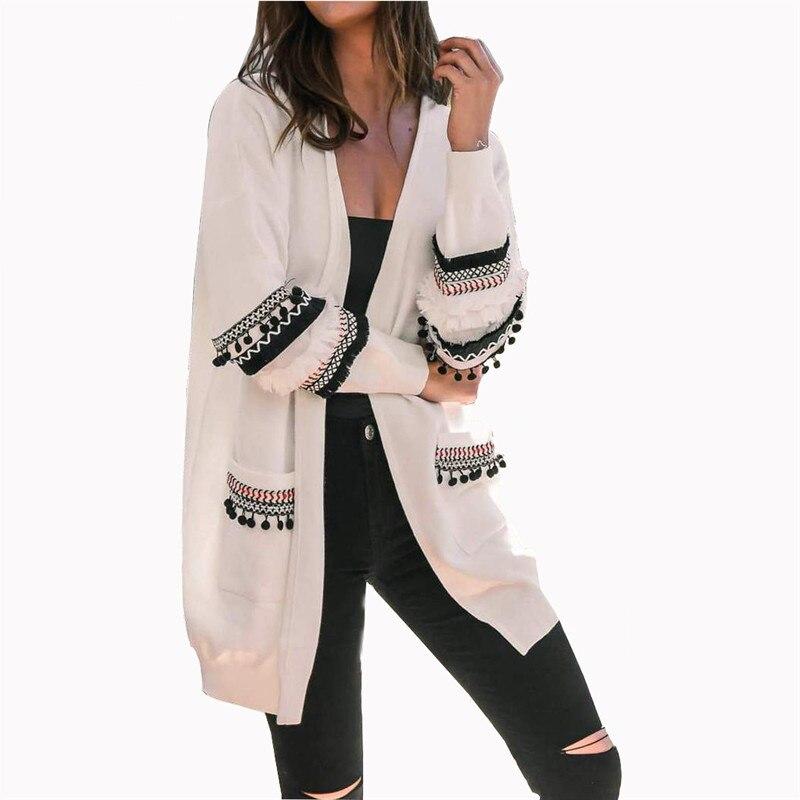 2019 Winter Women Loose Knitted Cardigan Sweater Casual Autumn Coats Long Sleeve Pocket Outwear Korean Version Plus Size XXXL