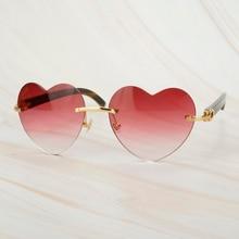 Fashion Heart Sunglasses for Women Sun Glasses Oversized Sunglasses