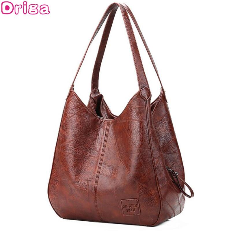 Driga 2019 Vintage Women Hand Bag Designers Luxury Handbags Women Shoulder Bags Female Top-handle Bags Fashion Brand Handbags(China)