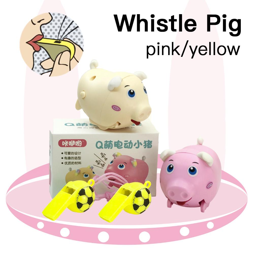 Electric Small Whistle Pig Cute Electric Music Walking Pig Toy LED Electronic Pets Toy Kids Educational Toy