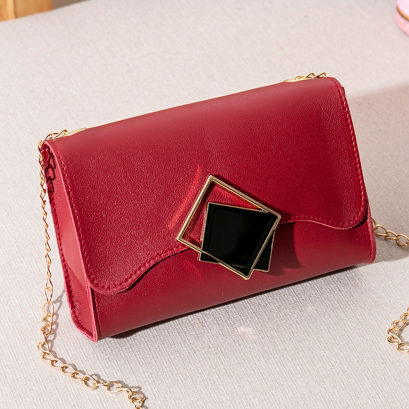 Korean-style Trend Si Fang Kou One-Shoulder Chain Square Sling Bag 2019 Autumn And Winter New Products Women's Shoulder Mobile P