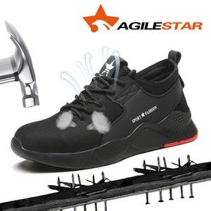 Image 2 - 남자를위한 작업 부츠 작업 안전 신발 공장 철강 발가락 신발 미끄럼 방지 방지 스매싱 펑크 증거 통기성