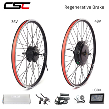 Ebike Electric Bicycle Conversion Kit 48V 36V 26 27.5 28 29 inch 700 Rear E Bike Engine Motor Wheel Ship From Spain Russia USA