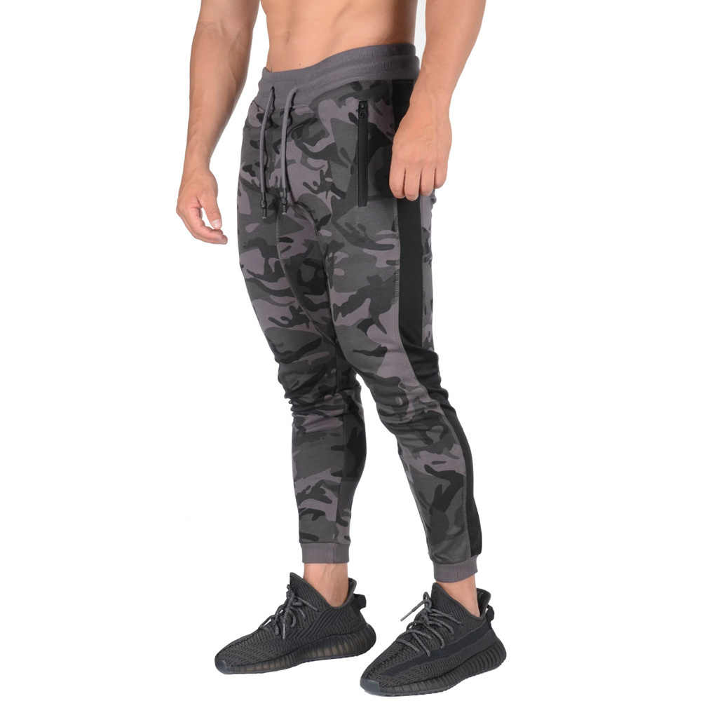 Men Joggers Workout Gym Pants Casual Camouflage Sweatpants Skinny Trousers