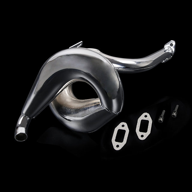Metal 71CC Engine Exhaust Pipe Kit for 1/5 HPI ROFUN BAHA ROVAN KM BAJA LOSI 5IVE T FG Truck Spare Toys Parts