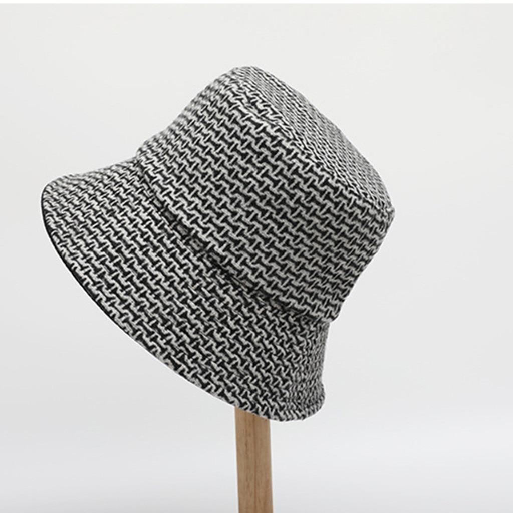 SAGACE 2019 Universal Wool Double-sided Basin Cap Geometric Flower Fashion Couples Hipster Hat Fishing Fisherman Hat