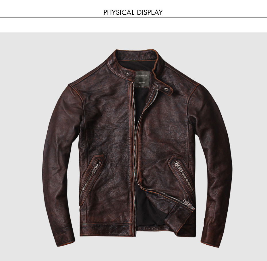 Ha189ab2135dc4743b84d2830f12db5a8j CARANFIER DHL Free Shipping Mens 100% Cowhide Genuine Leather Jacket High quality old retro motorcycle leather jacket 3XL