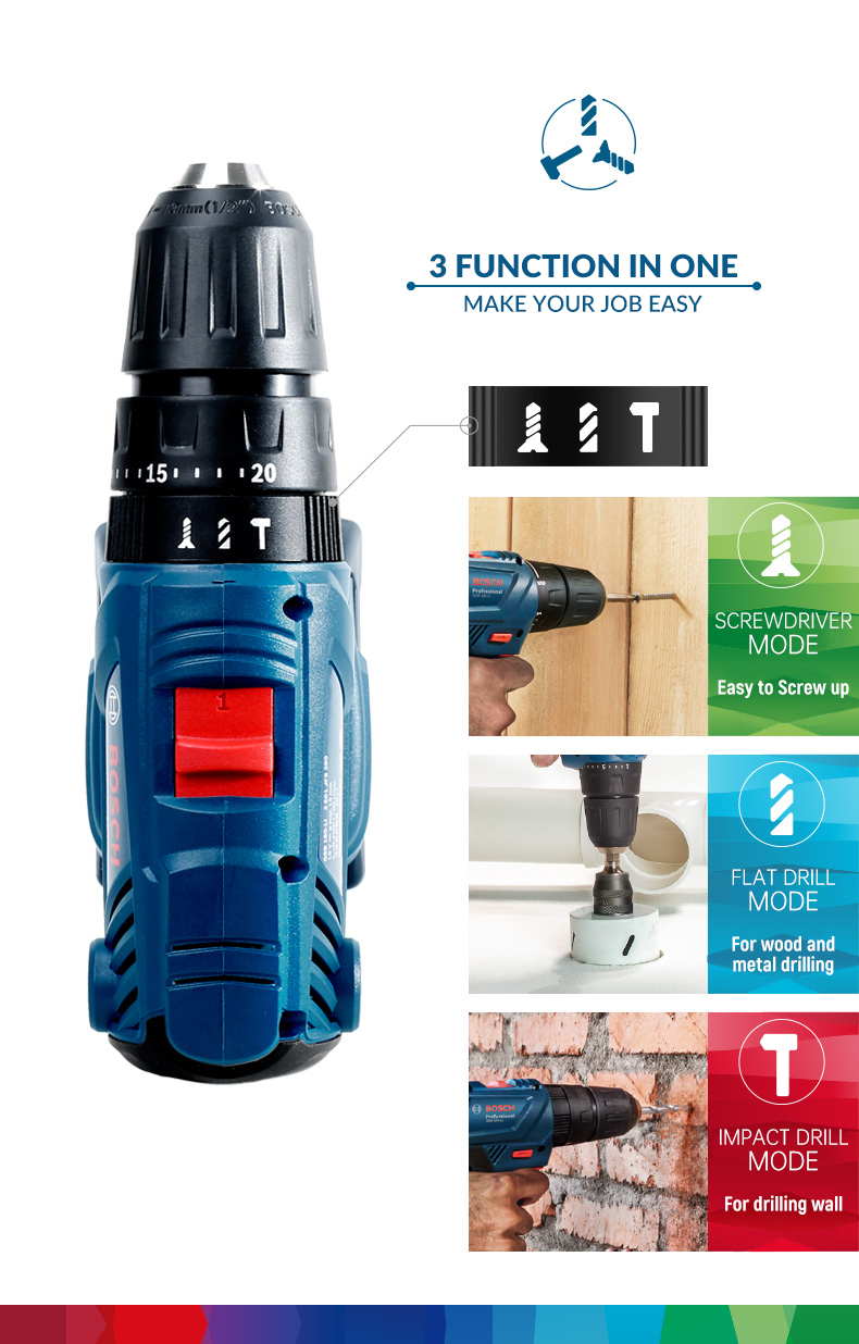 Bosch Cordless Electric Drill Driver