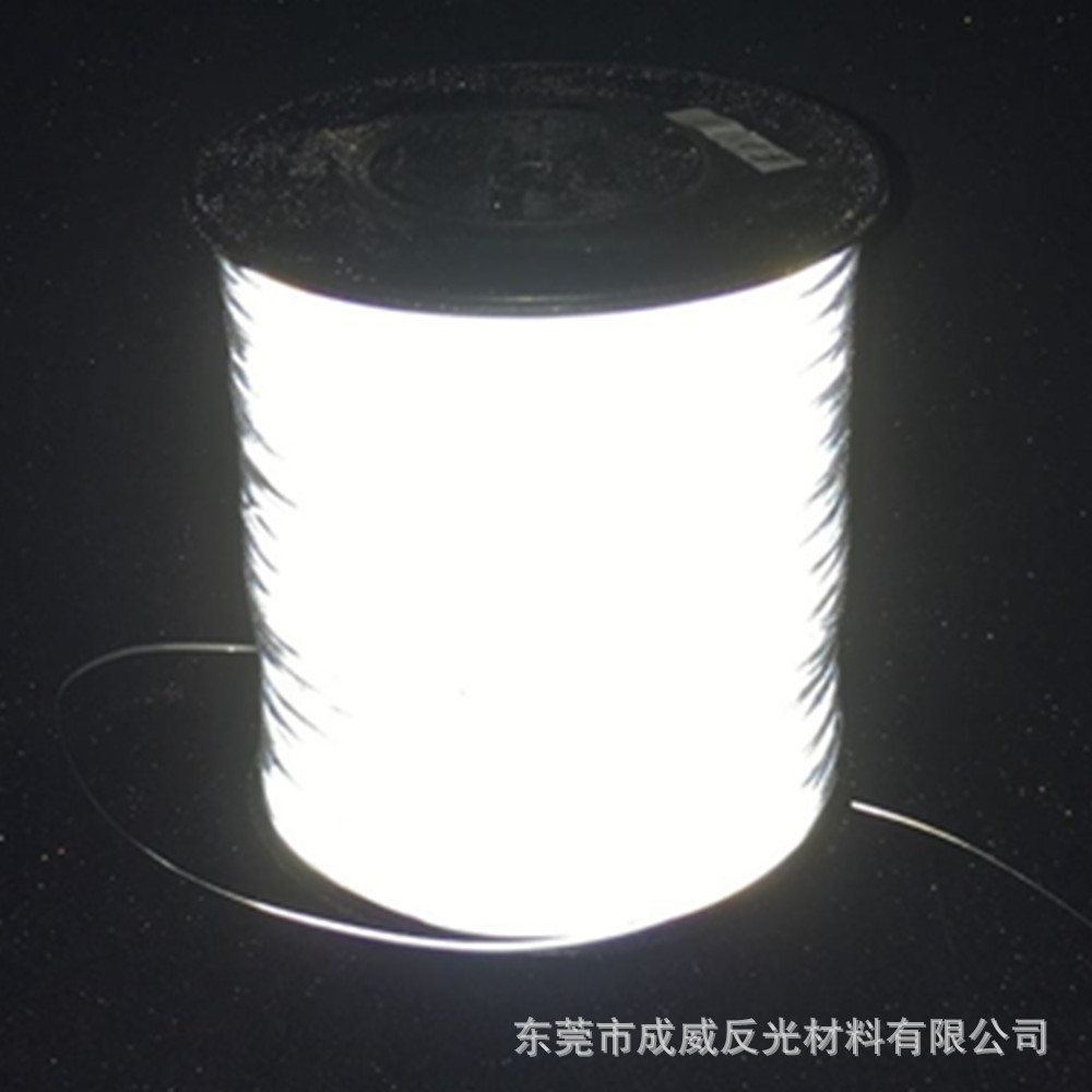 Currently Available Supply Highlight Reflective Yarn 0 5mm Wide Silver Double-Sided Environmentally Friendly Reflective Yarn Sup