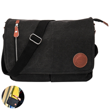 2019 Canvas Leather Crossbody Bags Men Messenger Shoulder for Man Bolsa Handbags Quality Luxury Designer Big Brand Masculina