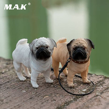 FOCUS TOYS F03 1/6 Pet Toys Pekingese dog Pug With Collar Anime Statue for 12 inches Action Figure fans Collections