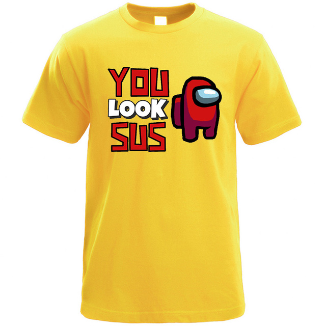 YOU LOOK SUS AMONG US THEMED T-SHIRT (15 VARIAN)