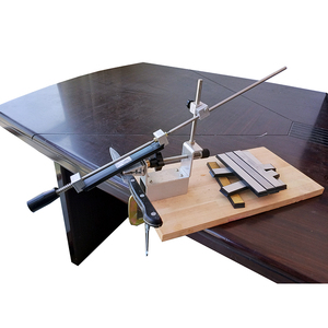 Image 2 - سكين مبراة المهنية درجة أكبر أحدث المحمولة 360 درجة دوران كليب قمة حافة حافة نظام KME 1 الماس حجر