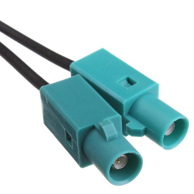 DJSona amplificateur de Signal Radio Fakra | Antenne 17.7 , amplificateur rehausseur dampli à DIN pour VW Audi pièces de rechange extérieures, aeraces Fakra