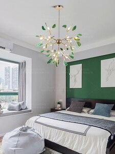 Image 4 - מודרני LED אוכל נברשת אור זהב תליית מנורת כחול נברשת בחדר ילדים מבואת מטבח סלון חדר שינה דקור מנורות