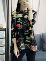 Miyake falten frühjahr neue sieben punkt hülse T shirt weibliche lose Chinesischen stil tang anzug platte top kostenloser versand