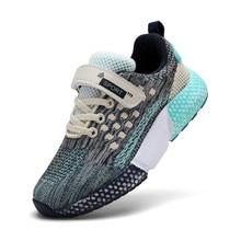 נעלי ילדים חדש סתיו בני סניקרס רשת לנשימה בנות ספורט נעלי אור משקל טניס חיצוני נעלי אופנה ילדי נעליים