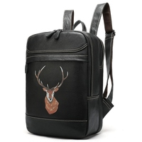 School Bags for Women's Genuine Leather Backpack Women Bag Backpack Female 14Inch Laptop Schoolbags Girl Travel Rucksack