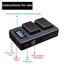 Зарядное устройство camer с двумя портами ЖК дисплей np fw50