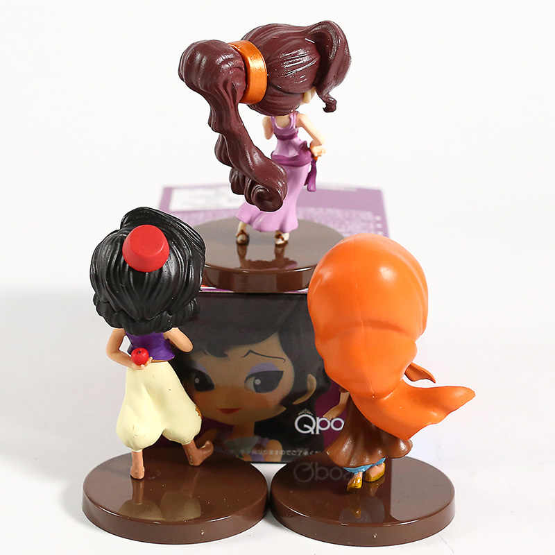 Q Posket postacie Petit Aladdin Megara pcv figurki zabawki Qposket lalki 3 sztuk/zestaw