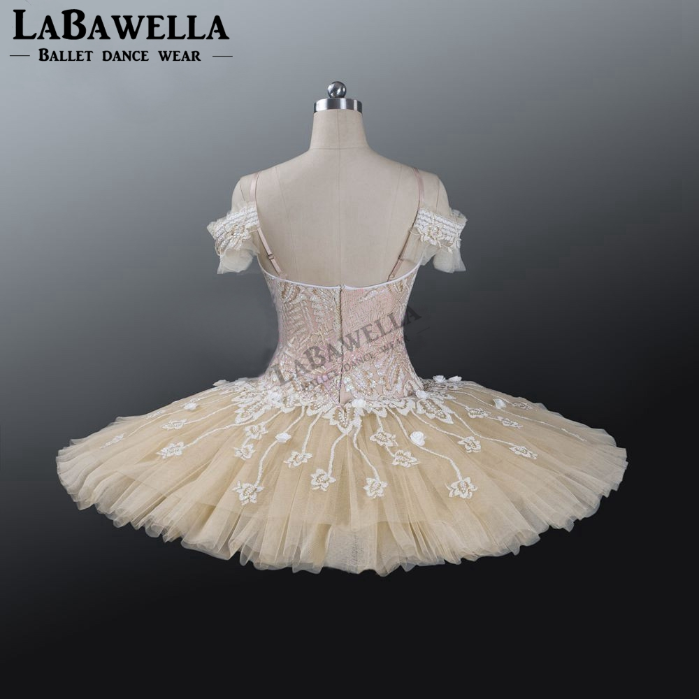Image 4 - Ballet Beige Fairy Harlequinade Variation Professional Tutu Dress Kids Performance Competiton Tutu Costume BT9073Ballet   -