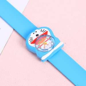 Tapping-Table Watches Silicone Analog Children Cartoon Fish 3D Clown Quartz Doraemon