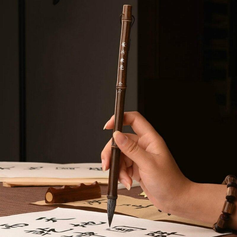 Calligraphy Brush Set Chinese Huzhou Ink Brush Pen Traditional Chinese Painting Regular Script Writing Brush Set Caligrafia
