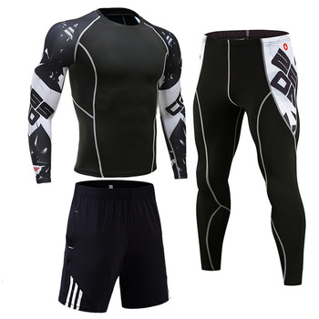 Men's Compression Sportswear Suits Gym Tights Training Clothes Workout Jogging Sports Set Running Rashguard Tracksuit For Men 14