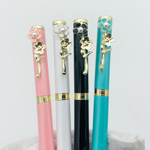 Luxury High-end Metal Peach Blossom Ballpoint Pen Signing Pen School Office Supplies Student Kids Gift Customized with Own Logo(China)