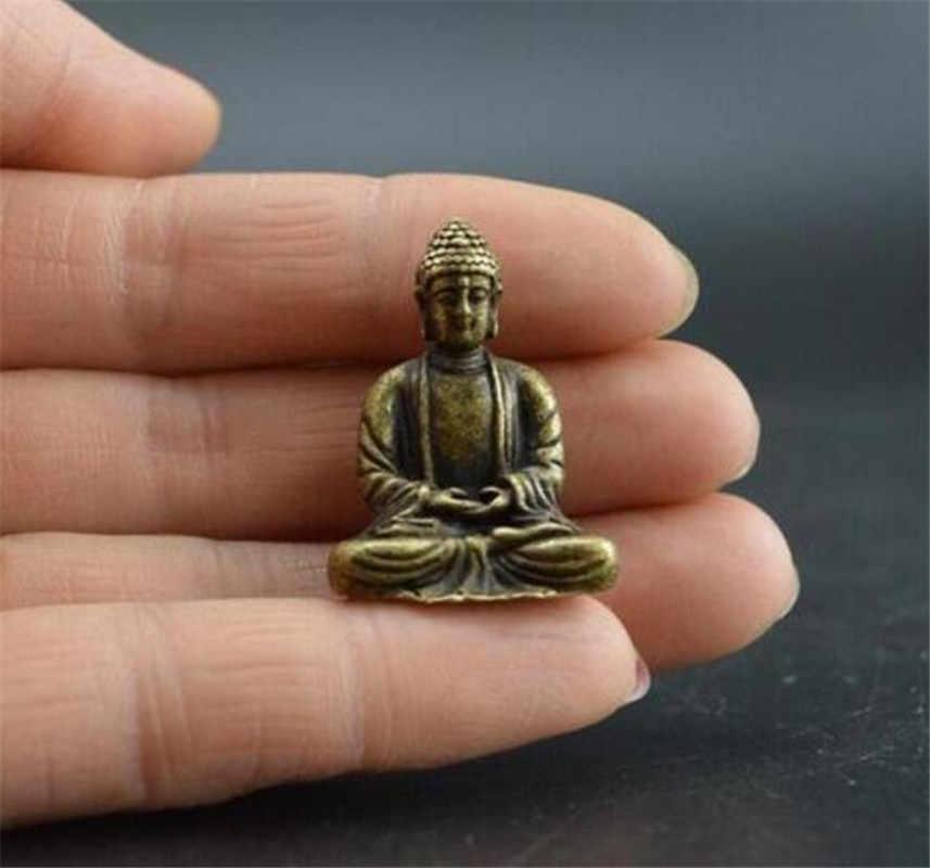 Bakır heykel koleksiyon çin pirinç oyma Guan Gong Guan Yu Mammon saber zarif küçük heykeller