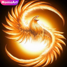 MomoArt 5D Diamond Painting Phoenix Bird Mosaic Full Drill Square Embroidery Animal Home Decoration