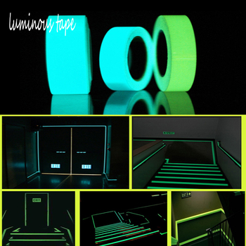1pc Luminous Fluorescent Tape Self-adhesive Glow In The Dark Night Sticker Safe Security Home Decoration Warning Emergency Tapes image