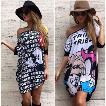 LOUMANDO 2020 New Summer woman Printing Batwing Sleeve Dress Short-sleeved fashion streetwear factory direct sales
