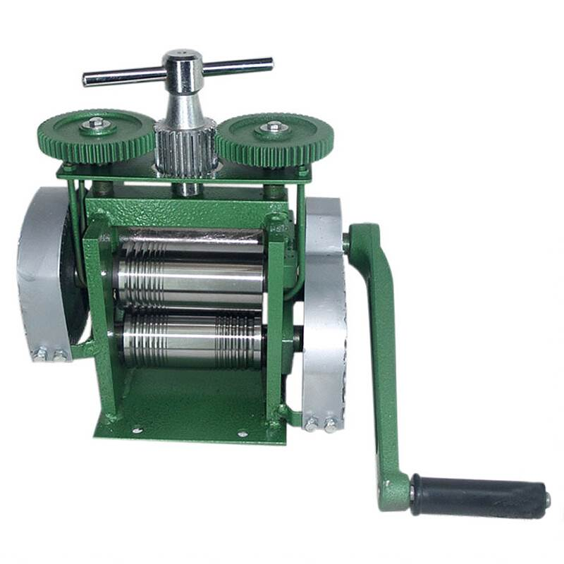 Hand Operate Mini Jewelry Rolling Mill  Gold Silver Rolling Mill With Maximum Opening 0-5 Mm, Tablet Press Machine Manual