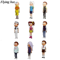 34 Flyingbee 34 pcs Rick and morty Skateboard graffiti waterproof sticker Scrapbooking Sticker for Phone Luggage Decals X0710 (5)