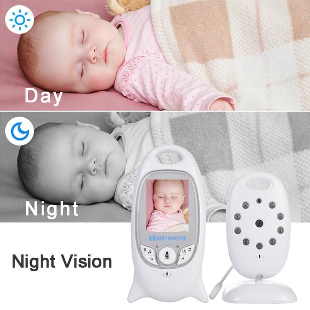 Niania elektroniczna Baby Monitor bezprzewodowy wideo 2.0 cal 2 Way dyskusja niani baterii kamera Night Vision monitorowanie temperatury z 8 kołysanka