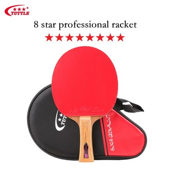 цена на Tuttle 8 Star Professional Ping Pong Racket 5-Rosewood Table Tennis Racket Bat with ITTF Approved Rubbers Good Spin & Control