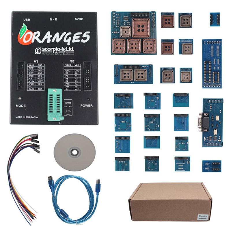 Orange5 Programmer Full Set OEM Orange 5 Programmer With Full Adapter And Software Device Hardware+Enhanced Function