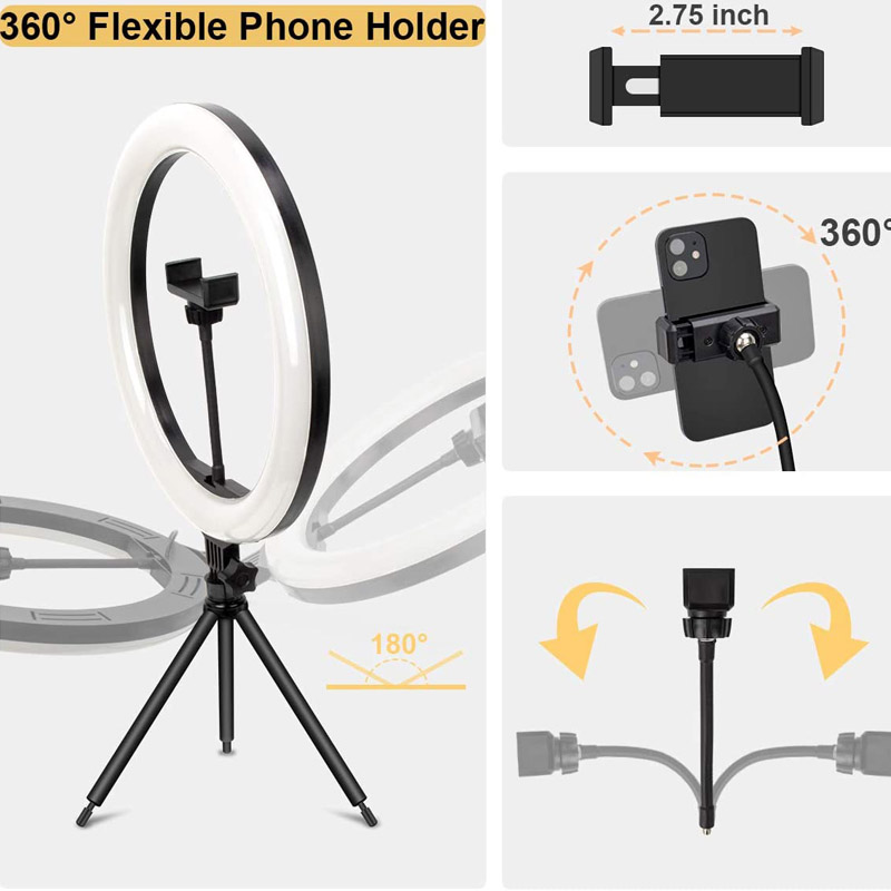 Ha18c541e636f4c4b86970ed41f8632554 Video Lights Dimmable Light Selfie LED Ring Light USB Ring Lamp With Tripod Stand Rim Of Light To Make TikTok Youtube ringlight